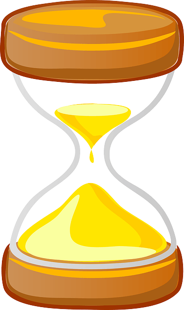 Egg timer image to signify time is passing