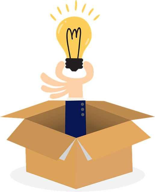 Light bulb for ideas to run a business