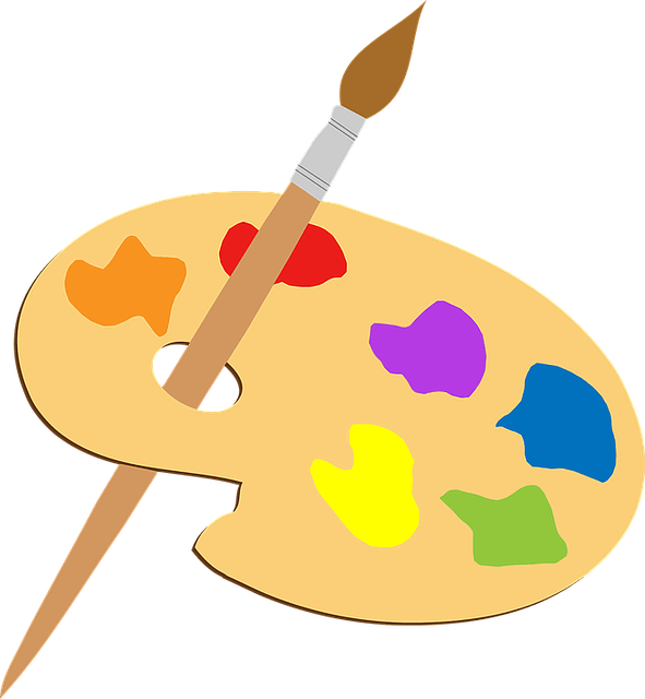 artist palette and brush for self employed artist