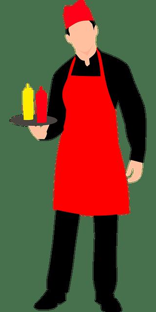 Image of waiter for staff member